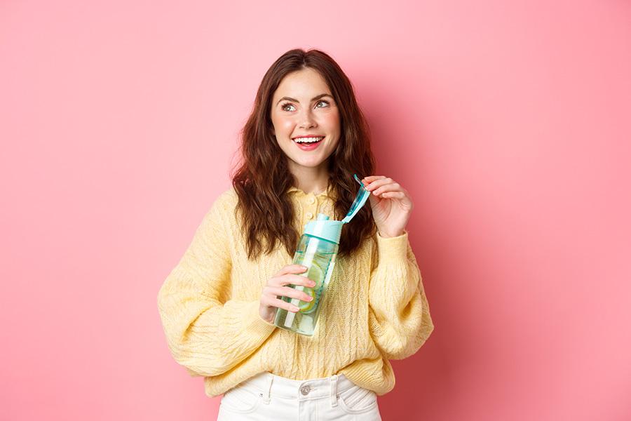 staffgear girl with bottle